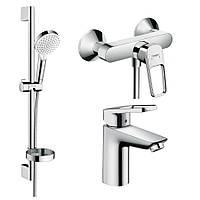 Набор смесителей для ванны HANSGROHE LOGIS LOOP 1072019 хром латунь 71783
