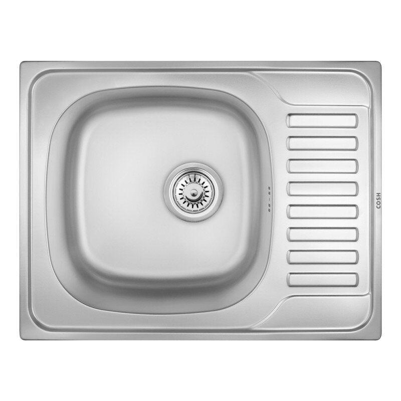 Кухонная мойка стальная прямоугольная COSH COSH7202D08 650мм x 500мм микротекстура 0,8мм 62001