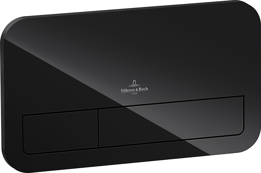 Накладная панель для смыва VILLEROY&BOCH VICONNECT 921843RB горизонтальная двойная черный 72003