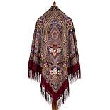 Время песен 1922-6, павлопосадский платок из шерсти с шелковой бахромой, фото 2