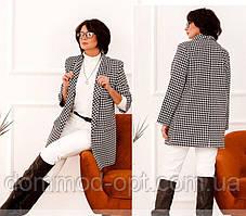 Жіночий діловий піджак №17245 (р. 48-62) чорний