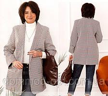 Жіночий діловий піджак №17245 (р. 48-62) бордо