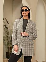 Жіночий діловий піджак №17245 (р. 48-62) сірий