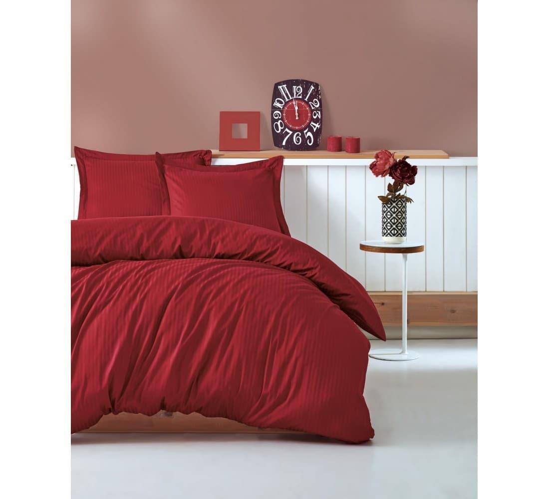 Постельное белье Cotton Box ELEGANT BORDO двуспальный - евро