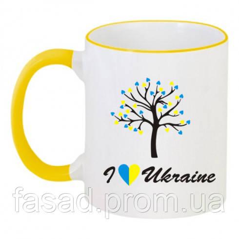 Чашка двоколірна I LOVE UKRAINE Код-12127-100623