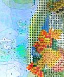 Алмазная картина-раскраска по номерам Дачный букет, 40х50 Rainbow Art (GZS1103), фото 2