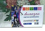 Алмазная картина-раскраска по номерам Дачный букет, 40х50 Rainbow Art (GZS1103), фото 8