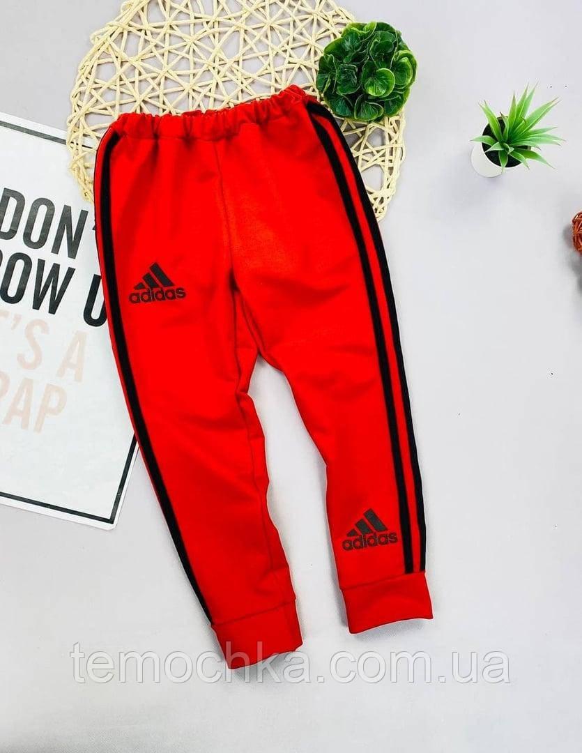 Червоні спортивні штани для хлопчика Адідас