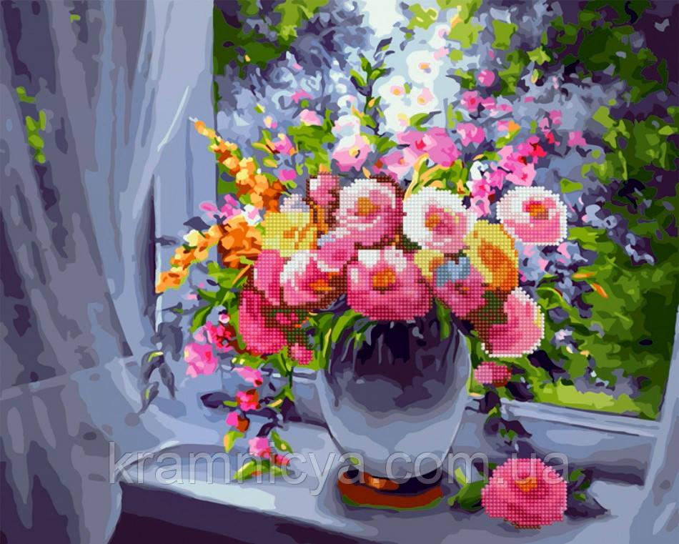Алмазная картина-раскраска по номерам Дачный букет, 40х50 Rainbow Art (GZS1103)