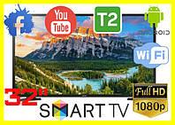 Телевизор 32 дюйма Samsung SMART TV Full HD LED Wi-Fi T2 САМСУНГ телевизор СМАРТ ТВ 32 дюйма на андроид 9
