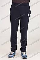 Спортивные штаны прямые теплые черные
