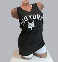 Майка женская чёрная ZOO YORK  код 16д