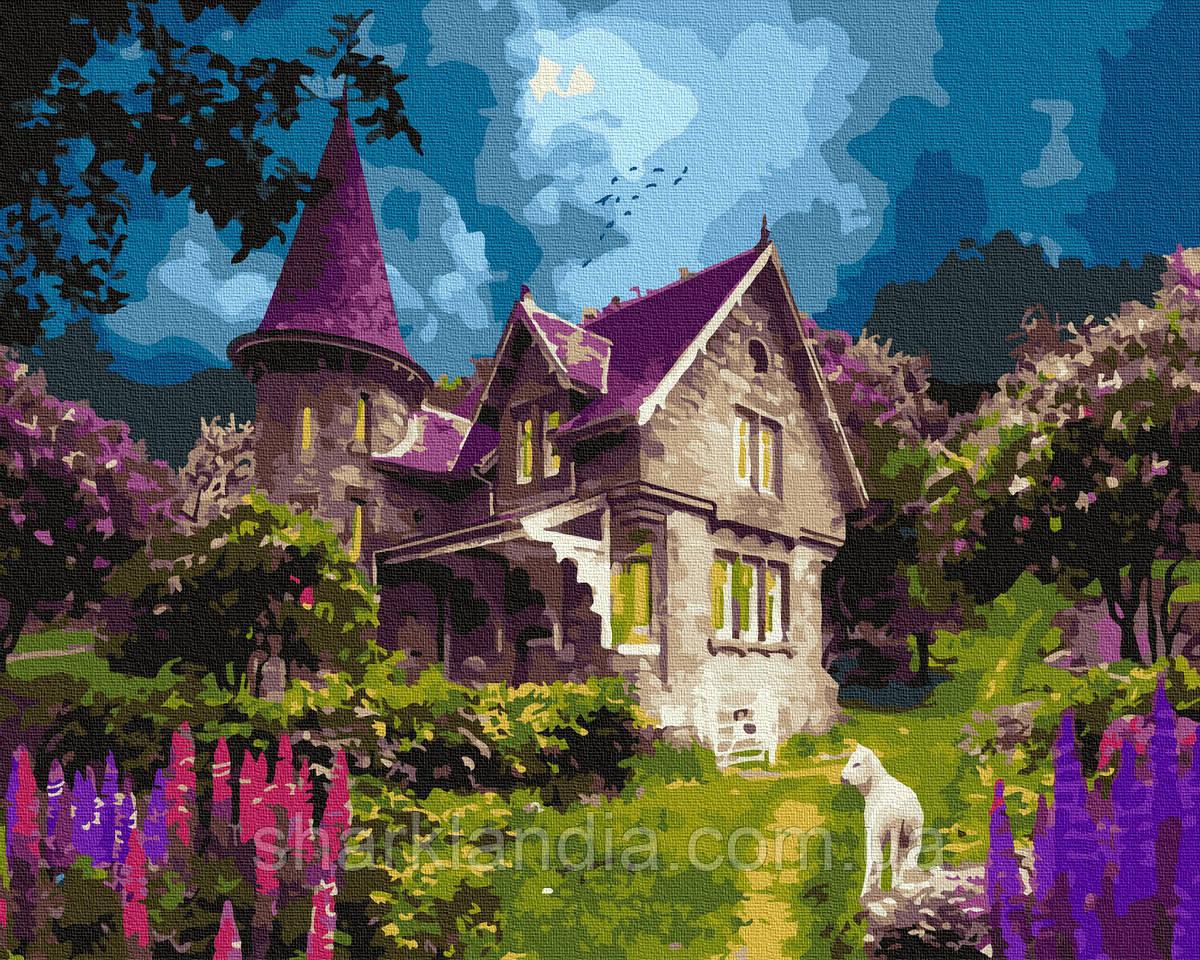 Картина по номерам Волшебный замок 40х50см RainbowArt природа Домик