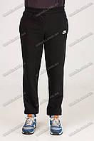 Спортивные штаны с манжетом теплые черные