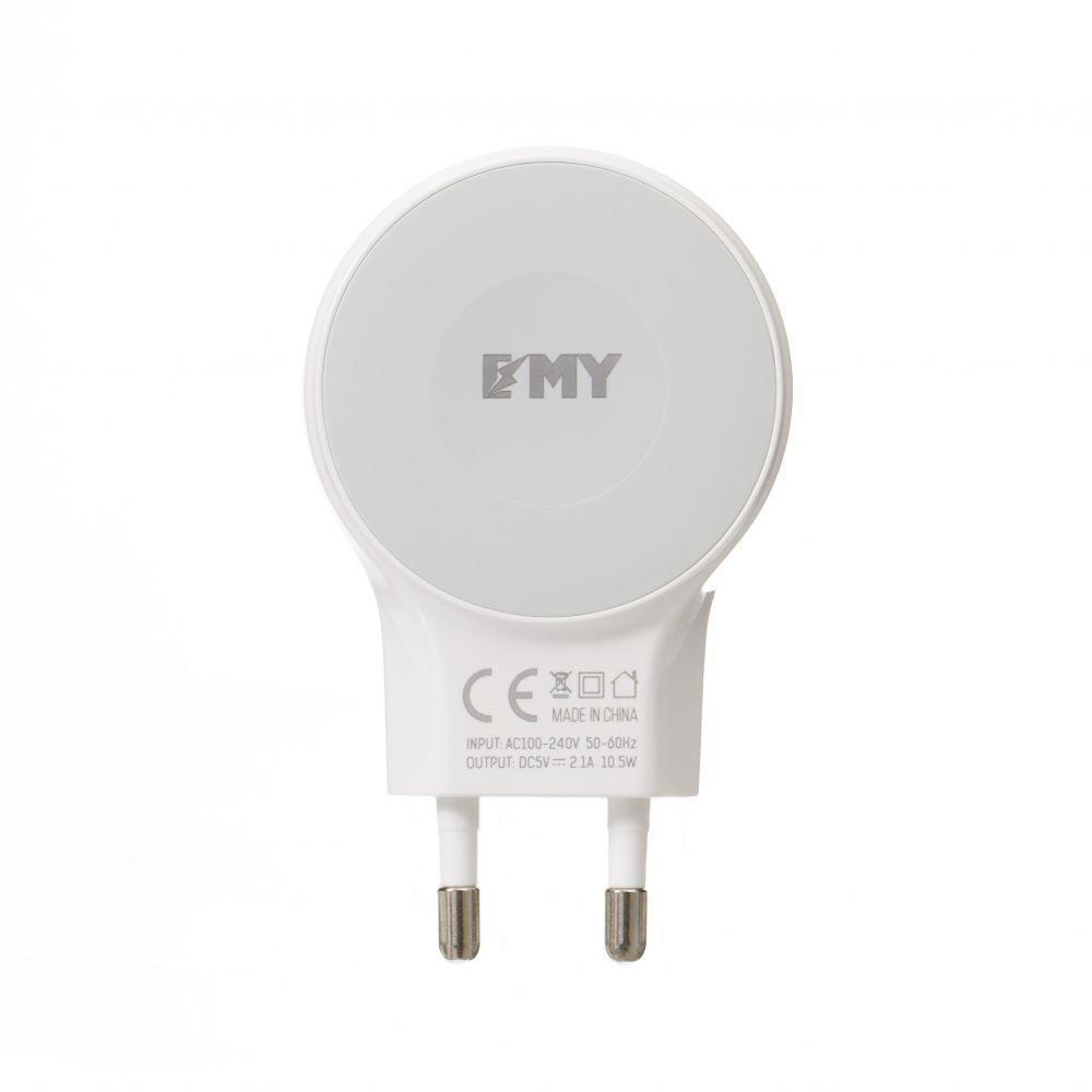 Мережевий Зарядний Пристрій Emy MY-269 Lightning 2400 mAh Колір Білий