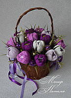 """Букет з цукерок """"Весняні крокуси"""""""