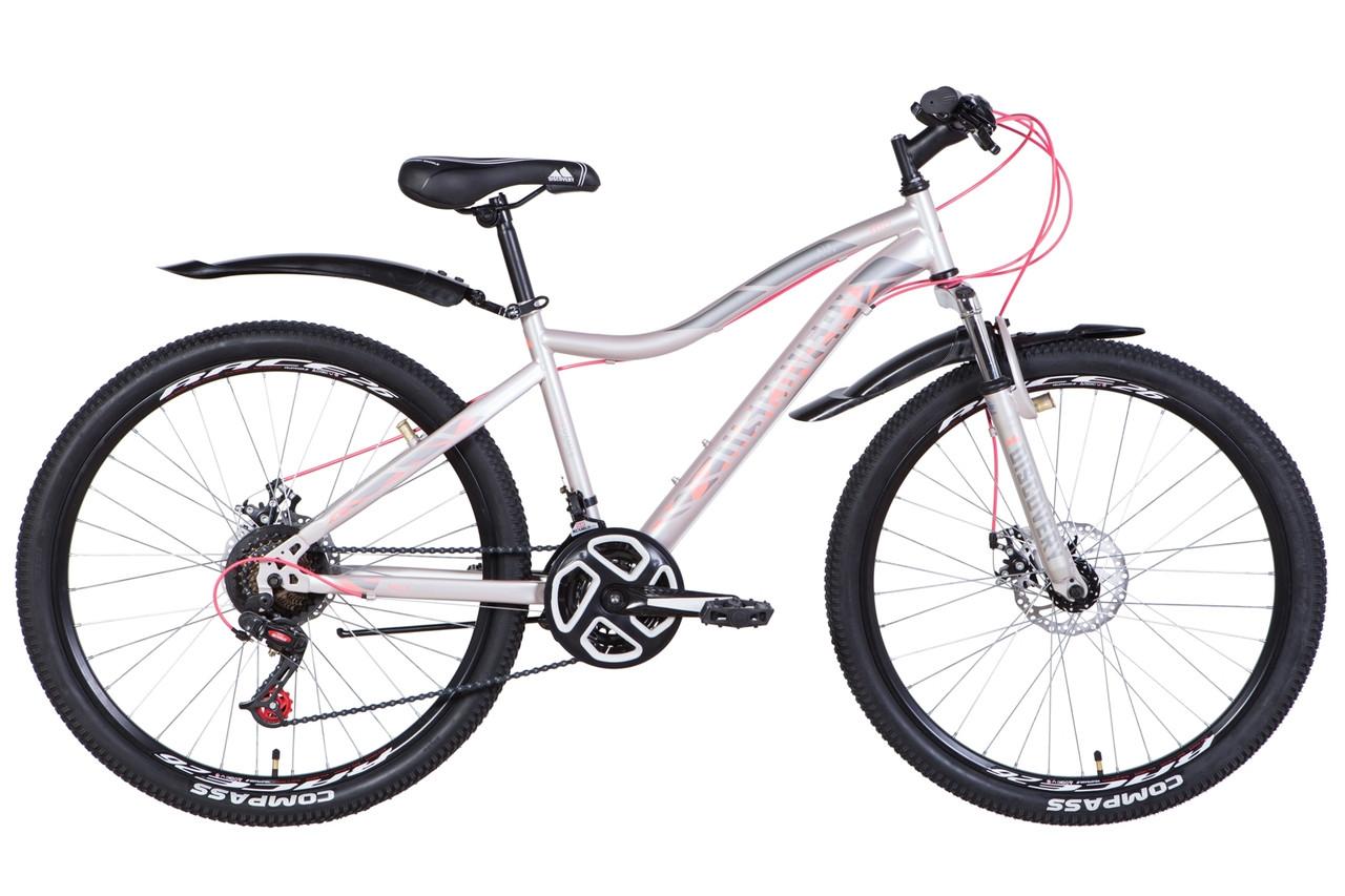 """Велосипед 26"""" Discovery KELLY DD 2021 (чорний з рожевим (м))"""