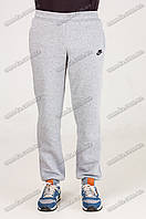 Спортивные штаны с манжетом теплые серые