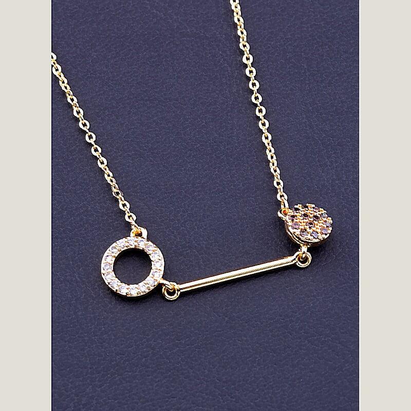 Подвеска на шею на шею позолота с фианитами медицинское золото Xuping Jewelry  Jewelry не темнеет не облазит