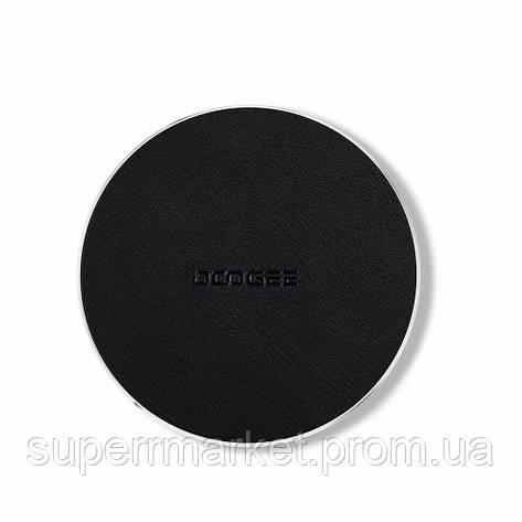 Беспроводное зарядное Doogee C2 10W black leather, фото 2