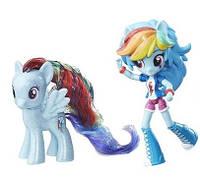 Игровой набор Радуга Дэш пони и кукла Моя Маленькая Пони - My Little Pony Rainbow Dash Pony and Doll Set,