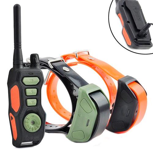 Електронний нашийник для дресирування ДВОХ собак з ДУ Ipets PET618-2, ПАРА