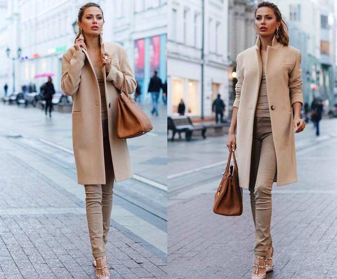 """Женское стильное пальто средней длины 245-1 """"Кашемир Классика"""""""