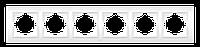 Рамка шестерная белый, крем El-Bi Zena