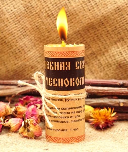 Чарівна свічка з часником ручна робота