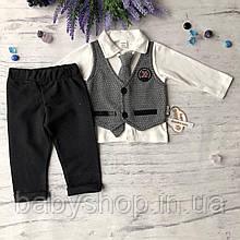 Детский нарядный костюм на мальчика 700. Размер 68 см, 74 см, 80 см