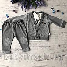 Детский нарядный костюм на мальчика 702. Размер 74 см, 80 см, 86 см