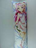 Подушка-обнимашка аниме ростовая 150 х 50 Симедзи (кукла с розовыми волосами) Дакимакура двухсторонняя, фото 2