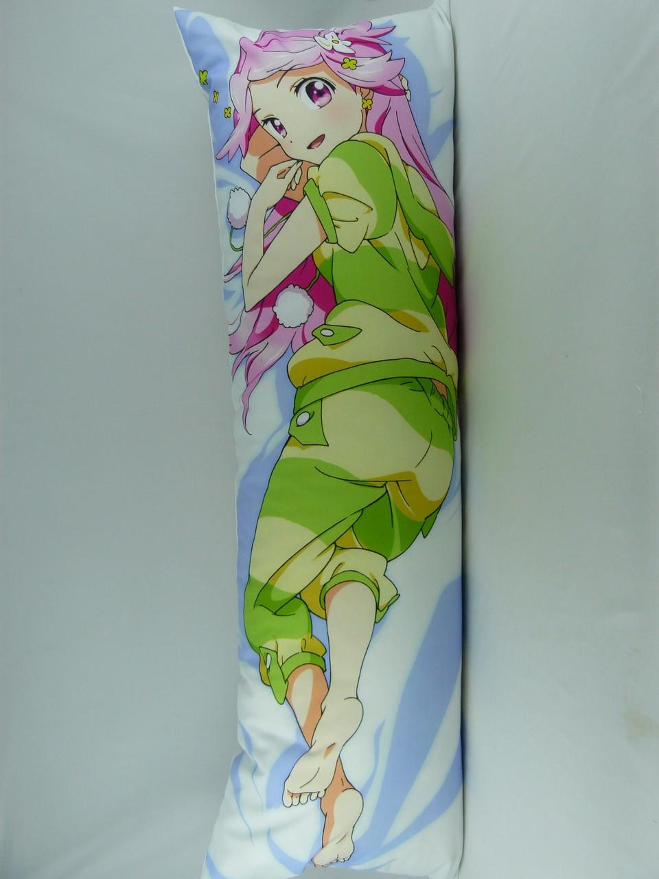 Подушка-обнимашка аниме ростовая 150 х 50 Симедзи (кукла с розовыми волосами) Дакимакура двухсторонняя