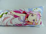 Подушка-обнимашка аниме ростовая 150 х 50 Симедзи (кукла с розовыми волосами) Дакимакура двухсторонняя, фото 3