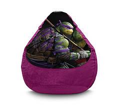 """Кресло мешок """"Ninja Turtles. Donatello"""" Флок"""