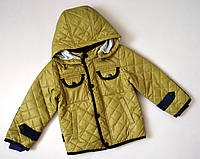 """Детская куртка для мальчика на 3, 4 года демисезонная """"Лондон"""" стеганая деми весна осень весенняя осенняя"""