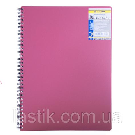 /Зошит для записів CLASSIC L2U А6 80 л клітина червона пластикова обкладинка, фото 2