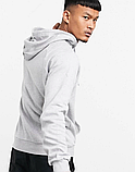 Чоловіча спортивна кофта кенгуру, толстовка Adidas (Адідас) сіра, фото 2