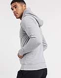 Чоловіча спортивна кофта кенгуру, толстовка New Balance (Нью Беленс) сіра, фото 2