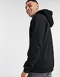 Мужская спортивная кофта кенгуру, толстовка Asics (Асикс) черная, фото 2