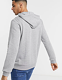 Чоловіча спортивна кофта кенгуру, толстовка Nike (Найк) сіра, фото 2
