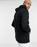 Чоловіча спортивна кофта кенгуру, толстовка Jordan (Джордан) чорна, фото 2