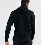 Чоловіча спортивна кофта кенгуру, толстовка New Balance (Нью Беленс) чорна, фото 2