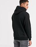 Мужская спортивная кофта кенгуру, толстовка New Balance (Нью Беленс) черная, фото 2