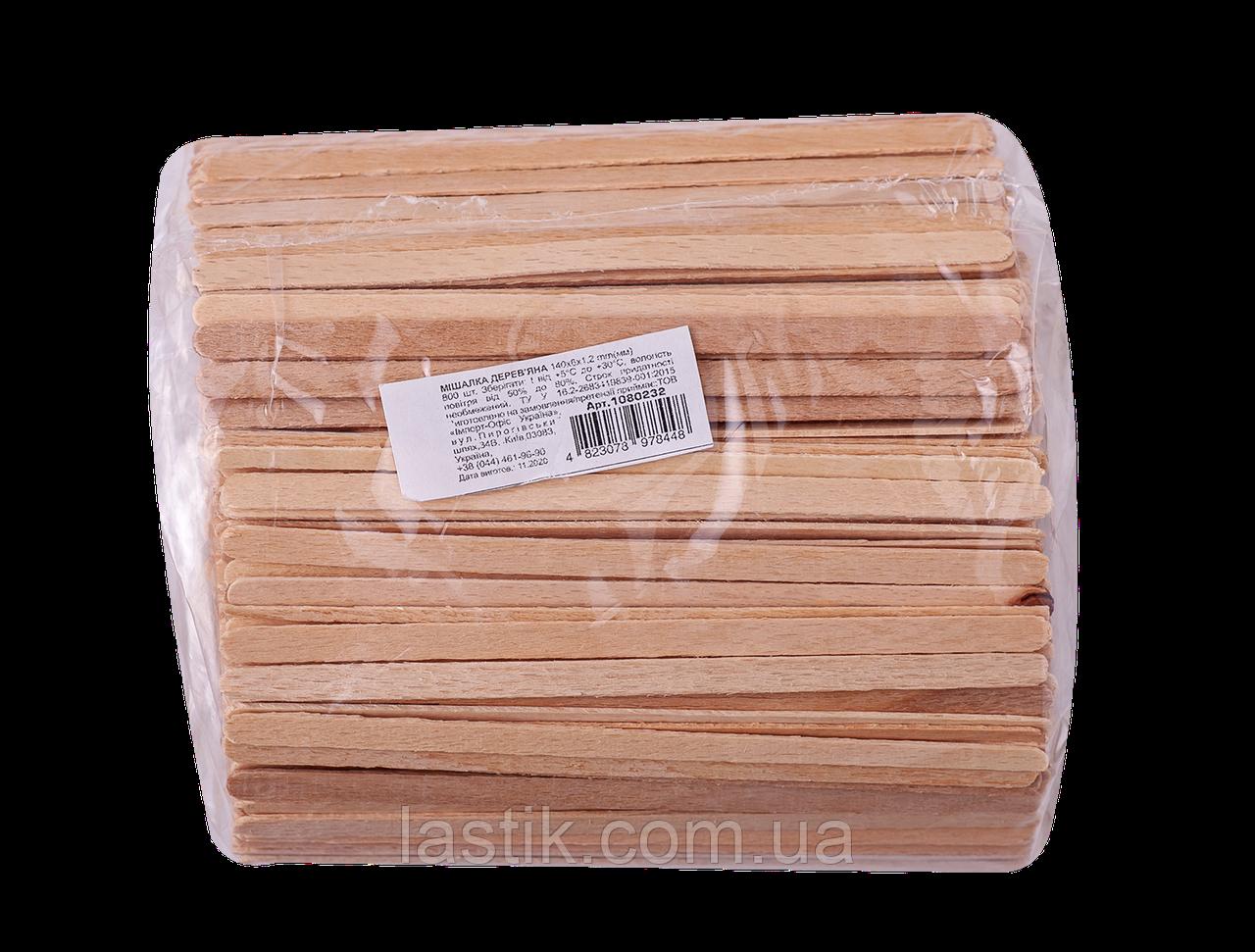 /Мешалка 14 см 800шт/уп деревянная одноразовая BuroClean