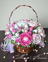 """Букет з цукерок """"Весняні троянди"""""""