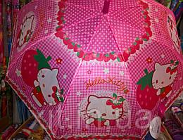 Детский зонтик для девочки. Зонтик девочке. Зонтик Хелло китти. Качественный зонтик для девочки