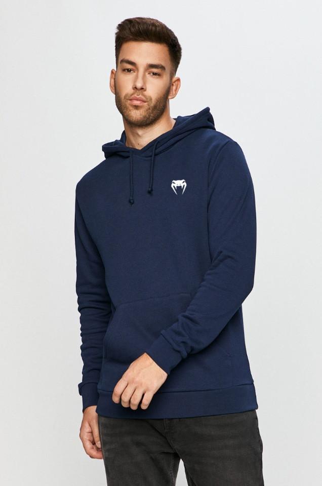 Мужская спортивная кофта кенгуру, толстовка Venum (Венум) синяя