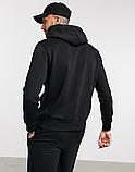 Мужская спортивная кофта кенгуру, толстовка Reebok (Рибок) черная, фото 2