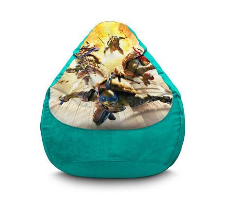 """Кресло мешок """"Ninja Turtles. Explosion"""" Флок, фото 2"""